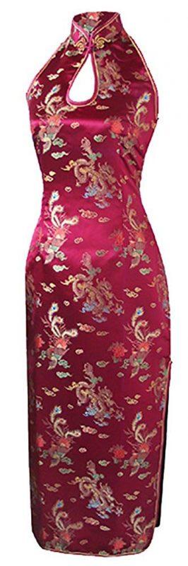 セブンフェアリー(7Fairy) ブルゴーニュ バックレス チャイナドレス