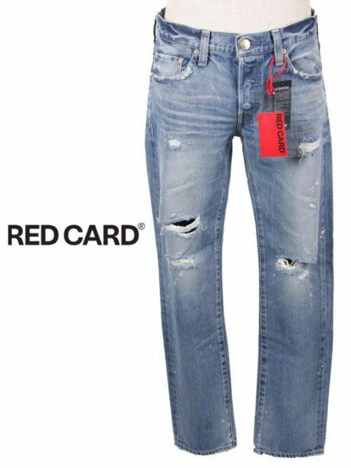 レッドカード(RED CARD) ダメージ加工ストレートデニムパンツ RHYTHM