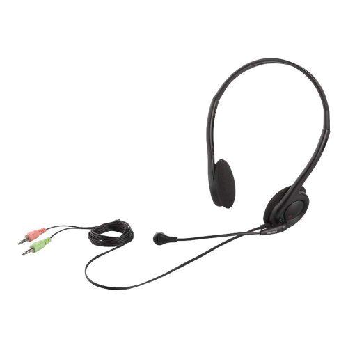 バッファロー(iBUFFALO) 両耳ヘッドバンド式ヘッドセット  BSHSH14