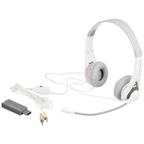 サンワサプライ(SANWA SUPPLY) USB/ステレオミニプラグ両用 ヘッドセット  MMZ-HSUSB14GY