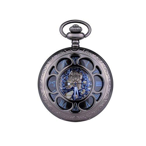 ウォルフティース(WOLFTEETH) 手巻き 懐中時計 チェーン付き 3047