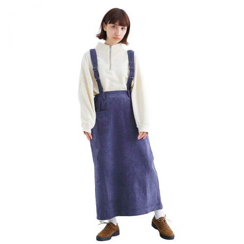 メルロー(merlot) コーデュロイ吊りスカート