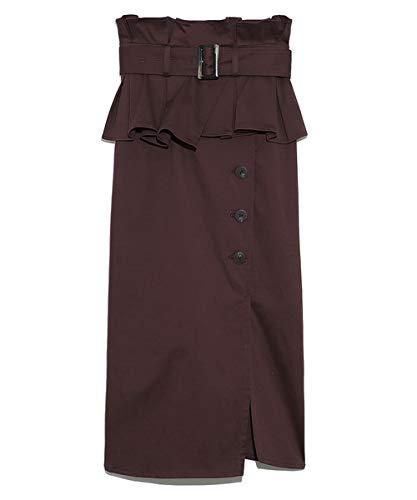 スナイデル(SNIDEL) ミディアム丈ペプラムスカート