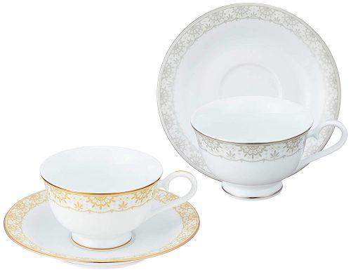 ナルミ(NARUMI) アウ アンド プティ ティーコーヒー兼用カップ&ソーサーペア