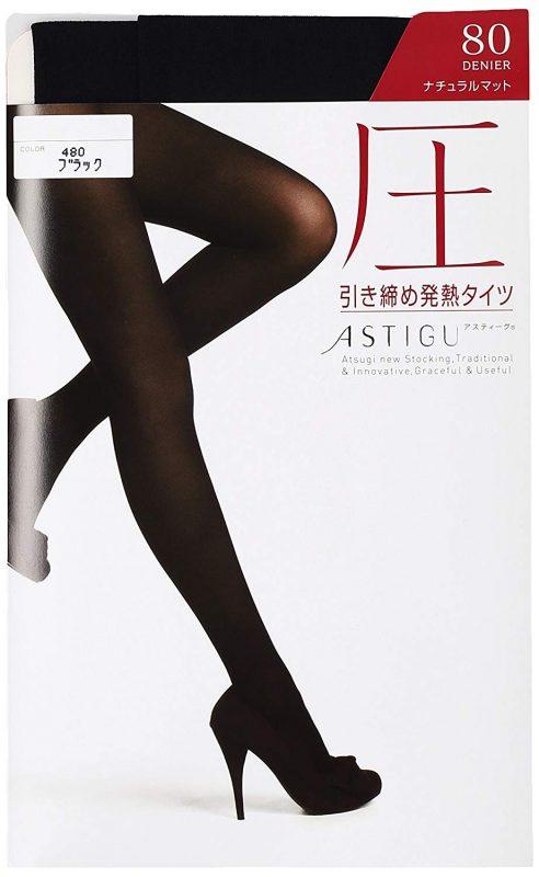 アツギ(ATSUGI) アスティーグ 圧 引き締め発熱タイツ 80デニール FP8480
