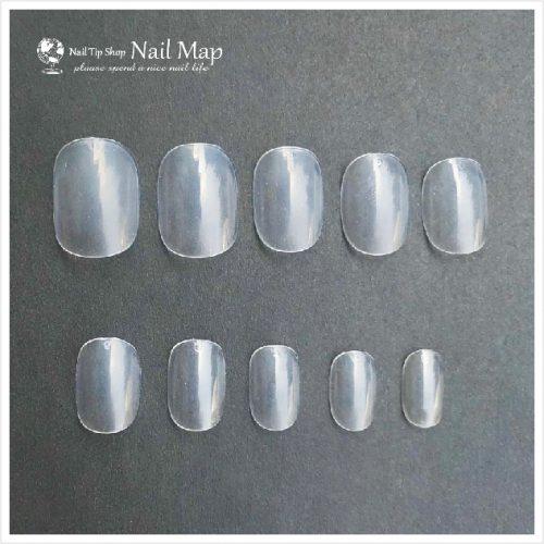 ネイルマップ(Nail Map) クリアネイルチップ ベリーショート(ちび爪) サイズ別ばら売り