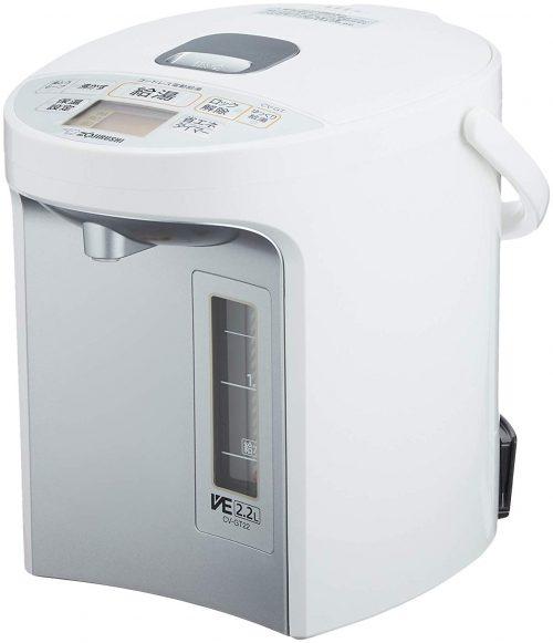 象印マホービン(ZOJIRUSHI) マイコン沸とうVE電気まほうびん 優湯生 CV-GT22-WA