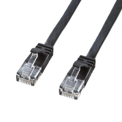 サンワサプライ(SANWA SUPPLY) CAT6対応LANケーブル 2m KB-FL6-02BKCN