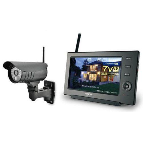 エルパ(ELPA) ワイヤレス防犯カメラ&モニター CMS-7110