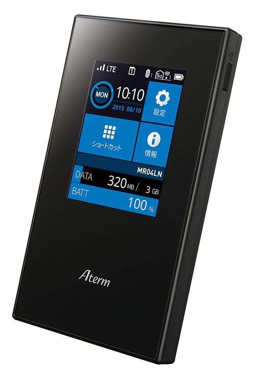 NECプラットフォームズ SIMロックフリー LTE モバイルルーター Aterm MR04LN