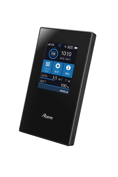 NECプラットフォームズ 自動SIM切り替え LTE モバイルルーター Aterm MR05LN
