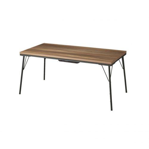 継ぎ足つき古材風アイアンこたつテーブル