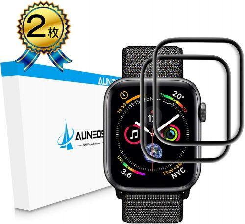 AUNEOS Apple Watch フィルム 6D全面粘着