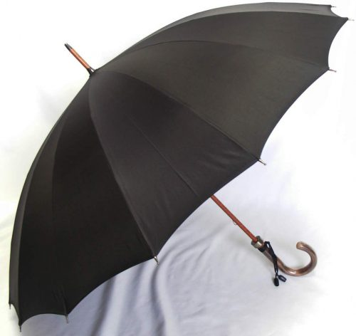前原光栄商店 前原傘 紳士用 ブラック 焼籐