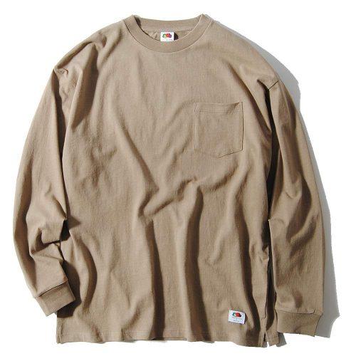 フルーツオブザルーム(FRUIT OF THE LOOM) ビッグシルエットポケットロングTシャツ