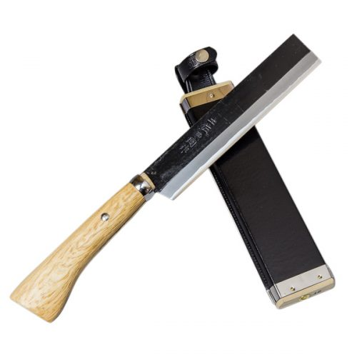 ほんまもん 火造り鉈 極上 青紙鋼 竹割り鉈 180mm