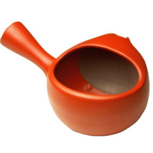 長峰製茶 常滑焼 ふたなし急須 朱泥