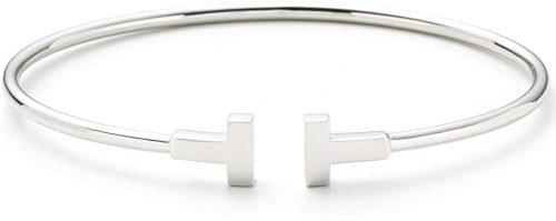 ティファニー(Tiffany & Co.) ティファニーT 18Kホワイトゴールドバングル