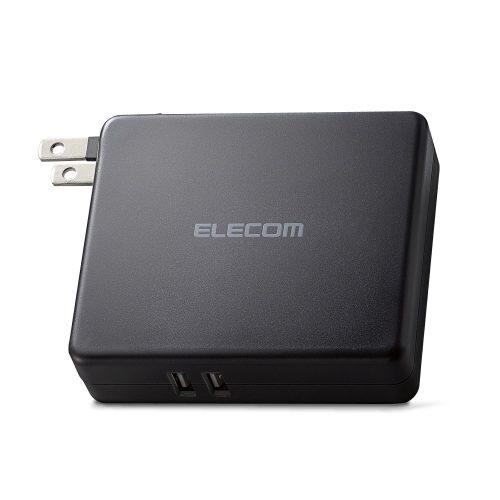 エレコム(ELECOM) AC充電器一体型モバイルバッテリー DE-AC01-N5824BK