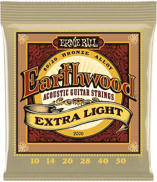 アーニーボール(ERNIE BALL) アコースティックギター弦 Earthwood 80/20 Bronze