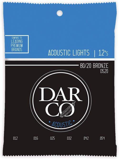 ダルコ(Darco) アコースティックギター弦 Acoustic D520 Light (80/20 Bronze)