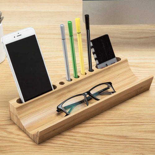 IBOOHOME 竹製 ペン立て