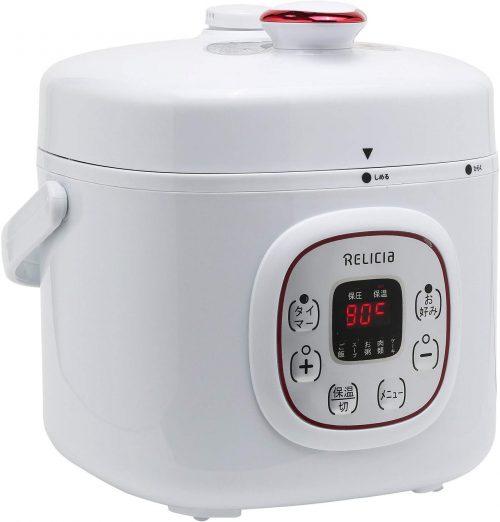 トーホー(TOHO RELICIA) コンパクト電気圧力鍋 RLC-PC02RF
