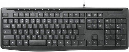 エレコム(ELECOM) 有線静音フルキーボード TK-FCM090SBK