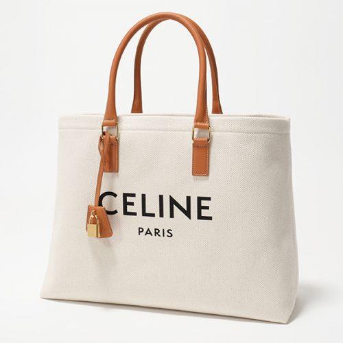 セリーヌ(CELINE) ホリゾンタル カバ キャンバス×レザー トートバッグ