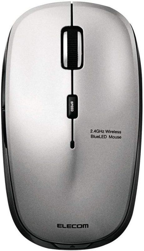 エレコム(ELECOM) 5ボタン BlueLED 静音マウス M-BL21DBS