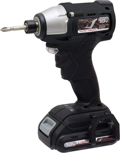 高儀(Takagi) EARTH MAN 18V 充電式インパクトドライバー Dual touch DUI-180LiA