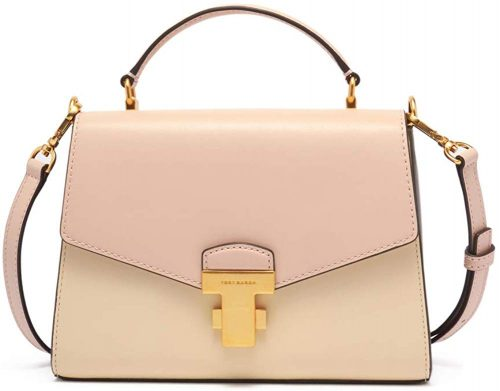 トリーバーチ(TORY BURCH) JULIETTE COLOR-BLOCK SMALL TOP-HANDLE SATCHEL