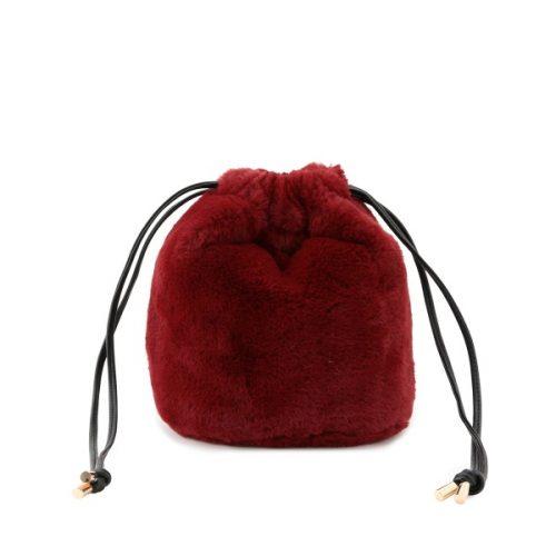 ビス(ViS) エコファー巾着バッグ