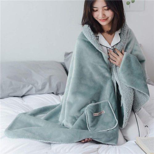 DINFO 着る毛布 ポンチョ