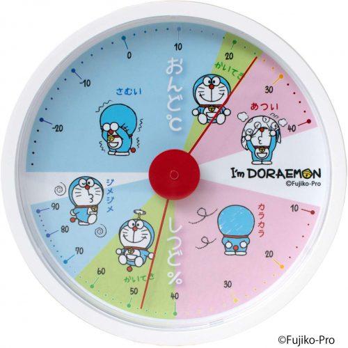 ティーズファクトリー I'm Doraemon アナログ温湿度計 ID-5558130WH