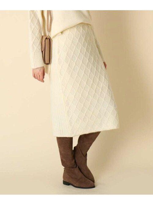 クチュールブローチ(Couture brooch) ミックス編みニットスカート