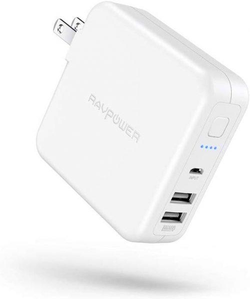 ラブパワー(RAVPower) モバイルバッテリー搭載USB充電器 6700mAh