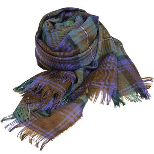 ロキャロン オブ スコットランド(Lochcarron of scotland) ピュアウール100% タータンチェック 薄手大判ストール