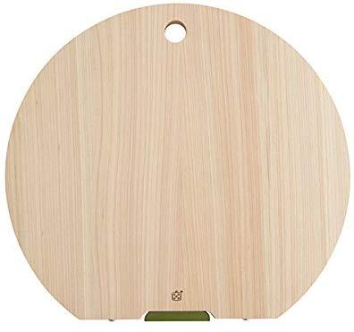 栗原はるみ 木製丸まな板 (大) スタンド式