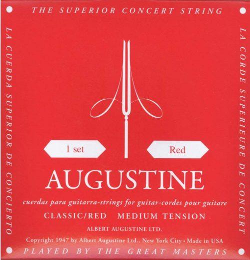 オーガスチン(AUGUSTINE) クラシックギター弦 レッドセット RED SET