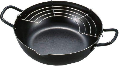 ヨシカワ(Yoshikawa) 天ぷら鍋 網付き SH9160 24cm