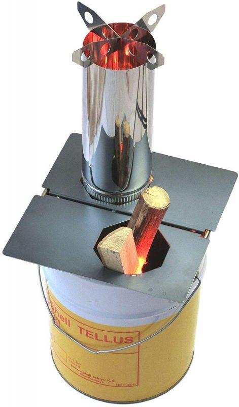 遊火人(あそびと) ロケットストーブ 『焚火缶』 お庭セット