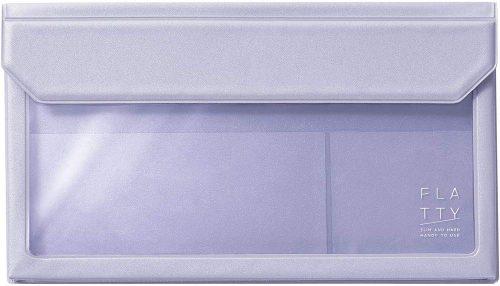 キングジム(KingJim) バッグインバッグ FLATTY 封筒サイズ ラベンダー 5362