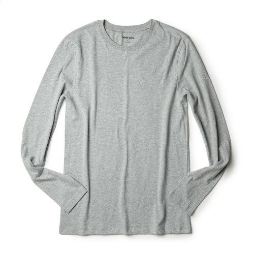 スリードッツ(THREE DOTS) クルーネックロングTシャツ