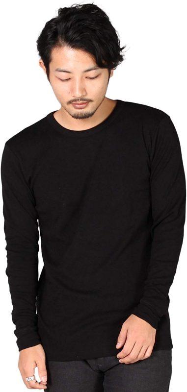 バンドール(BANDOL) リブコットンロングスリーブミリタリークルーTシャツ