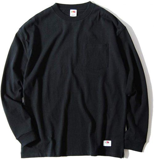 フルーツオブザルーム(FRUIT OF THE LOOM) ヘビーウェイトビッグポケットロングTシャツ