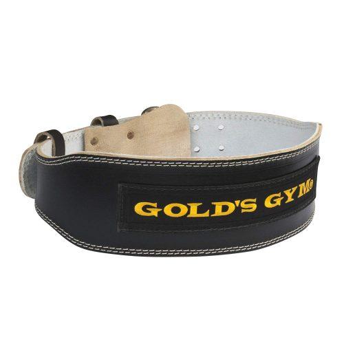 ゴールドジム(GOLD'S GYM) ブラックレザーベルトG3367