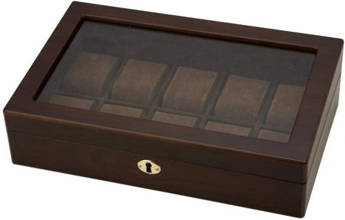 茶谷産業(Chatani) 木製ウォッチケース10本用 856-121
