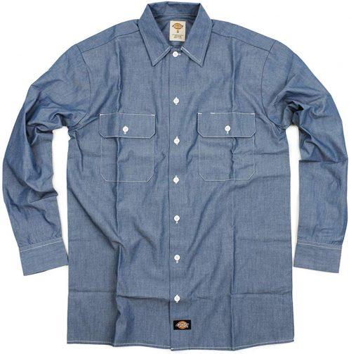 ディッキーズ(Dickies) Relaxed Fit Long Sleeve Chambray Shirt
