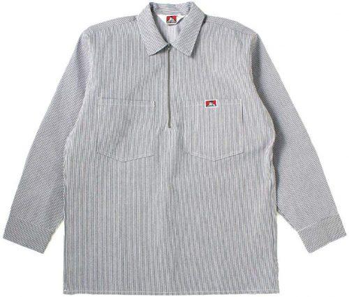 ベンデイビス(BEN DAVIS) Long Sleeve Striped 1/2 Zip